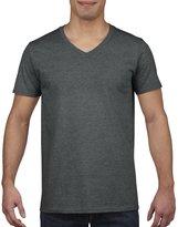 Gildan Mens Soft Style V-Neck Short Sleeve T-Shirt (L)