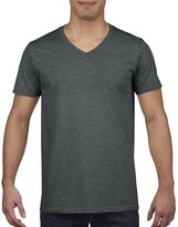Gildan Mens Soft Style V-Neck Short Sleeve T-Shirt (M)