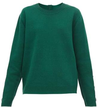 No.21 No. 21 - Crystal-embellished Wool-blend Sweater - Womens - Green