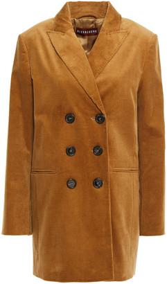 ALEXACHUNG Double-breasted Cotton-blend Corduroy Blazer