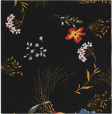 Reiss Reiss Dino - Floral Print Pocket Square In Black, Mens
