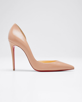 Christian Louboutin Iriza Half-d'Orsay 100mm Red Sole Pumps