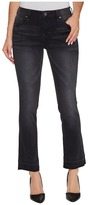 Jag Jeans Haven Ankle Flare Pants in Black/Undone Hem Women's Jeans