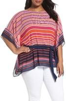 MICHAEL Michael Kors Plus Size Women's Abbey Stripe Tunic
