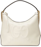 Gucci Original Large Leather Embossed GG Hobo Bag