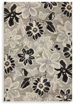 Couristan Everest Collection Wild Daisy Rectangle Rugs in Grey