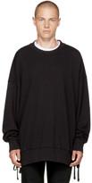 Faith Connexion Black Side Laced Sweatshirt