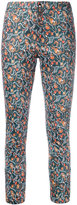 Isabel Marant foliage print skinny trousers