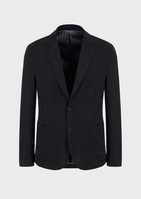 Giorgio Armani Regular-Fit Cupro Jacket From The Upton Line