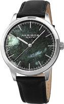 Akribos XXIV Mens Black Strap Watch-A-937bkgn