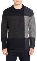 French Connection Men's Twill Check Sweater
