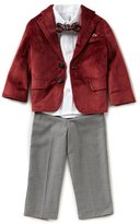 Class Club Little Boys 2T-7 Velvet Jacket, Button-Down Shirt, Pants, & Bow Tie 4-Piece Suit Set