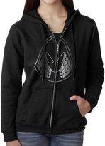 DMCPTY Women Spider Gwen Head Platinum Style Hoodie Sweatshirt