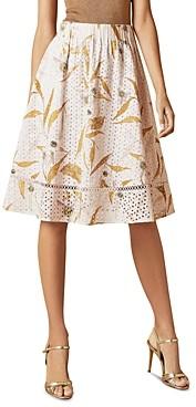 Ted Baker Jariita Cotton Eyelet Skirt