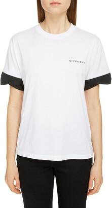 Givenchy Twist Cuff Logo Cotton Tee