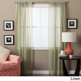 Ricardo Lucerne 72-inch Sheer Curtain Panel Pair - 52 x 72 - 52 x 72
