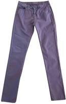 Maison Margiela Purple Cotton Trousers for Women
