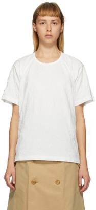 Junya Watanabe White Wrinkled T-Shirt