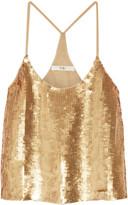 Tibi Éclair sequined silk-georgette camisole