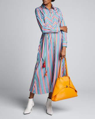 Evi Grintela Berber Zigzag Striped Shirtdress