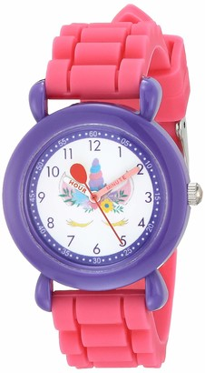 EWatchFactory Girls' Red Balloon Analog Quartz Watch with Silicone Strap