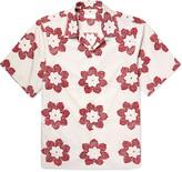 Prada Camp-Collar Printed Cotton Shirt
