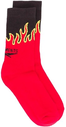 Vetements Logo Embroidered Socks