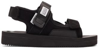 Suicoke Black WAS-V Sandals