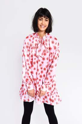 Glamorous Womens **Poppy Printed Tunic Dress By Pink