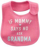 Carter's Baby Girl Printed Family Slogan Teething Bib