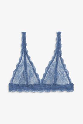 Monki Triangle lace bra