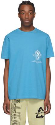 Off-White Blue Multi Symbols T-Shirt