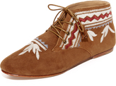 Ulla Johnson Adelaide Embroidered Moccasin Booties