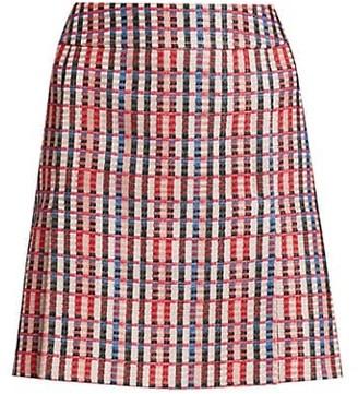 Akris Punto Multi Tweed A-Line Skirt