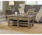 Desloge Coffee Table with Storage Foundry Select Color: Rustic Cedar