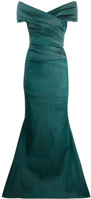 Talbot Runhof Sorbet Gazar Long Dress