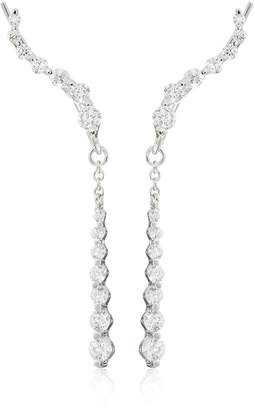 The Ear Pin 25mm Silver Cubic Zirconia Journey with Interchangeable Enhancer Earrings