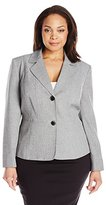 Kasper Women's Plus Size 2 Button Jacket