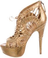 Alaia Python Cage Sandals