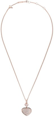 Chopard 18kt rose gold Happy Hearts diamond pendant necklace