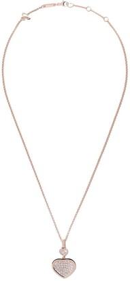 Chopard 18kt rose gold Happy Hearts diamond pendant necklace