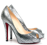 Thumbnail for your product : Christian Louboutin Very Privé 120 watersnake pump