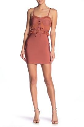 Wow Couture Corset Peplum Bandage Dress