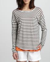 Striped Drop-Sleeve Tee