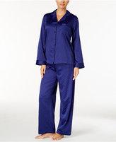 Miss Elaine Jacquard Dot Brushed-Back Satin Pajama Set