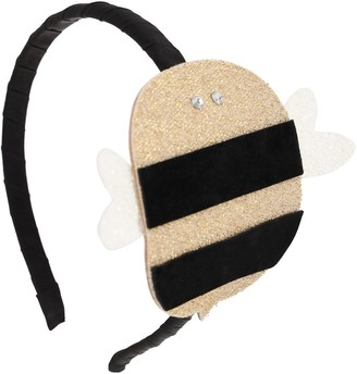 Illy Trilly Leather Headband W/ Bee Applique