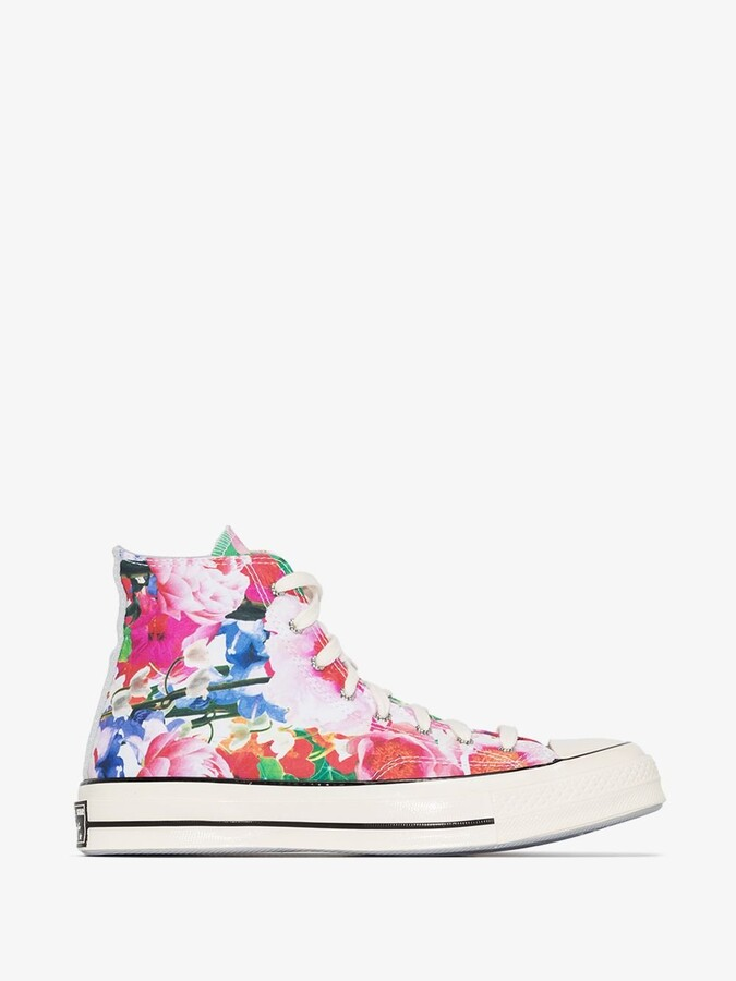 Thumbnail for your product : Converse Blue Pink Heart Of The City Chuck 70 High Top Sneakers