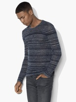 John Varvatos Varied Striped Crewneck