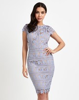 Lipsy Embroidery Sweetheart Neck Bodycon Dress