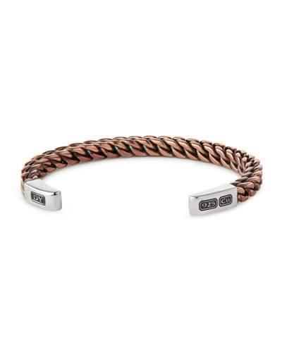 David Yurman Woven Sterling Silver Cuff Bracelet, Rose Golden